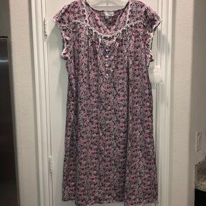 Eileen West Plus Floral  Jersey waltz Nightgown
